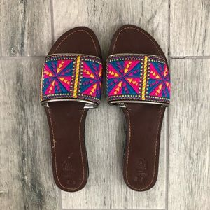 Shoes - Handmade Indian Leather Slides